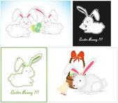 Easter Bunny Vectors — Stock Vector