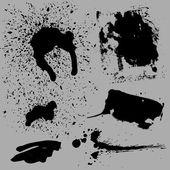 Distorted Grunge Vector Elements — Stock Vector