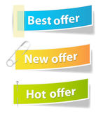 Offer Sale and Info Banners Vectors — Stock Vector