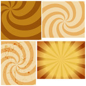 Vintage Sunburst Vector Backgrounds — Stock Vector