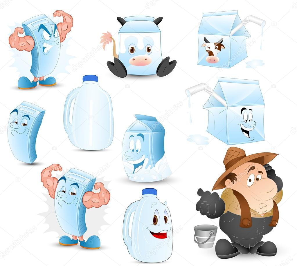 Creative Abstract Conceptual Design Art of Dairy and Milk Vectors — Imagen vectorial #12883580