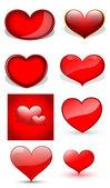 Hearts Vectors — Stock Vector