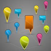 Icone vettoriali in navigazione — Vettoriale Stock