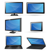Tabletki ekran laptopa tv komputer wektorów — Wektor stockowy