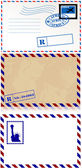 Vintage Envelopes Vectors — Stock Vector