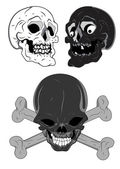 Skulls Vectors — Vetorial Stock