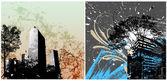 Urban Vector Backgrounds — 图库矢量图片