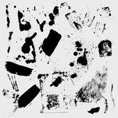 Grunge 闪屏和污渍向量 — 图库矢量图片