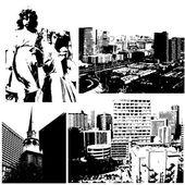 Конструкции городских вектора — Cтоковый вектор