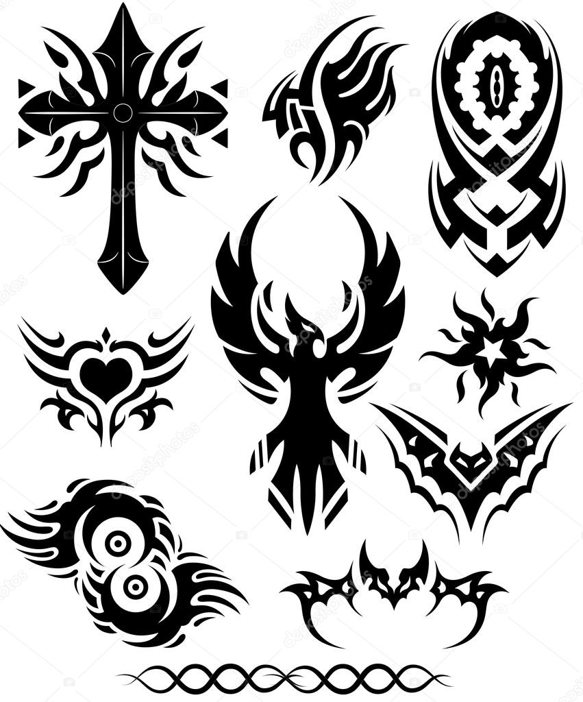 yap tribal tattoo çizimler vektörel — Stok © baavli Tribal #13104619 tattoo Vektör