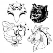 Tattoo Mascots — Stock Vector