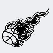 Retro Sport Flame Mascot Vector Character — Vettoriale Stock