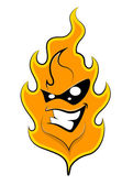 Fire Mascot Tattoo Vector — Stock Vector