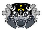 Toxic Mascot Tattoo Vector — Stock Vector