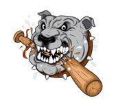 Dog Mascot Tattoo Vector — Stock Vector
