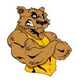 Mascot Tattoo Vector Tiger — Stock Vector