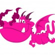 Cute Dragon Baby Illustration — Stock Vector #13709636