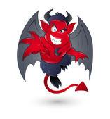 Cartoon Devil — Stock Vector
