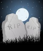 Graveyard Vector — Stock Vector