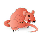 Horrible Vector Rat — Stock Vector