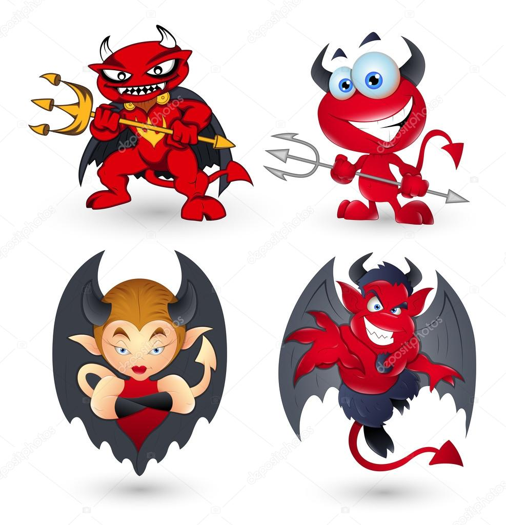 Cartoon devils — stock vector baavli