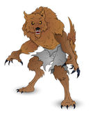 Classic Werewolf Vector Illustration — Stock Vector