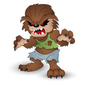 Funny Werewolf Vector Illustration — Stock Vector