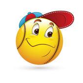 Smiley Emoticons Face Vector - Baseball — Stock Vector