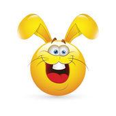 Smiley Emoticons Face Vector - Easter Bunny — Stock Vector