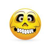 Smiley Emoticons Face Vector - Skull Expression — Stock Vector