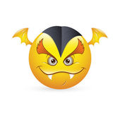 Smiley Emoticons Face Vector - Vampire Expression — Stock Vector