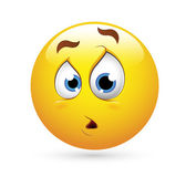 Smiley Emoticons Face Vector - Surprise Expression — Stock Vector