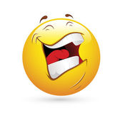 Smiley Emoticons Face Vector - Laughing — Stock Vector