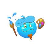 Smiley Emoticons Face Vector - Artist — Stock Vector