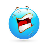Smiley Emoticons Face Vector - Laughing Loudly — Stock Vector
