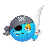Smiley Emoticons Face Vector - Pirate — Stock Vector
