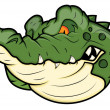 Royalty-Free Stock Vektorfiler: Angry Alligator Vector Mascot