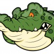 Angry Alligator Vector Mascot — Stock Vector