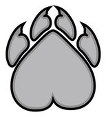 Bear Claws Mascot — Stock Vector
