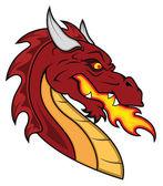 Mascote do vetor de dragão — Vetorial Stock