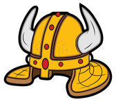 Viking Helmet Mascot Vector Illustration — Stock Vector
