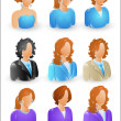 Female Profile Icons - Stockvektor