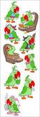 Parrot Vectors — Stock Vector