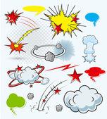 Komické výbuchy — Stock vektor