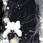 Vector Illustration - Retro Floral Background — Stock Vector
