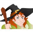 Cunning old Witch Vector Illustration — Stock Vector #14175276