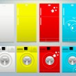 Refrigerator and Washing Machine Vector Illustartion — Imagen vectorial