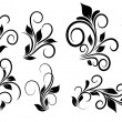 Stock Vector: Flourish Swirls Vector Elements