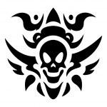 Tribal Tattoo Vector - Skull — Stock Vector #14179363