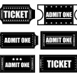 Tickets Vectors — Stock Vector